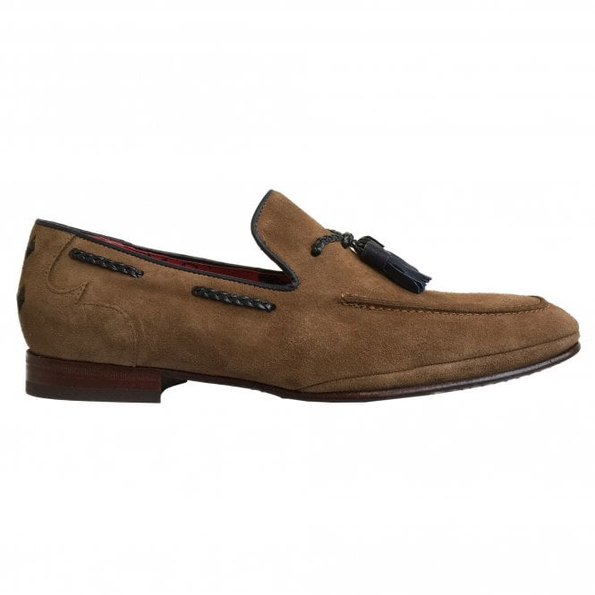 Jeffery West Rum Brown Suede Tasselled Loafer
