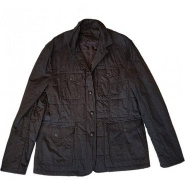 John Varvatos Star USA Black Casual Jacket with Sparkled Effect O1280R3B-BATF
