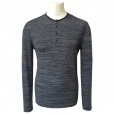 John Varvatos Star USA John Varvatos *USA Button Collar Henley in Shark Grey. K1205P3B-APX7B