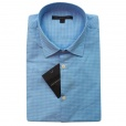 John Varvatos Star USA John Varvatos *USA Check Short Sleeve Shirt in Blue Topaz. W443Q1B-49VB