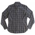 John Varvatos Star USA John Varvatos *USA Slim Fit Plaid Shirt in Espresso. W373N3B-43VX