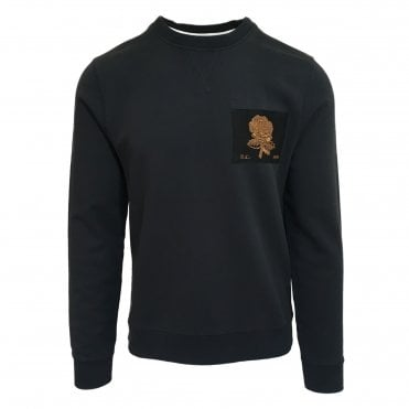 Kent & Curwen Black Bullion Patch Sweatshirt
