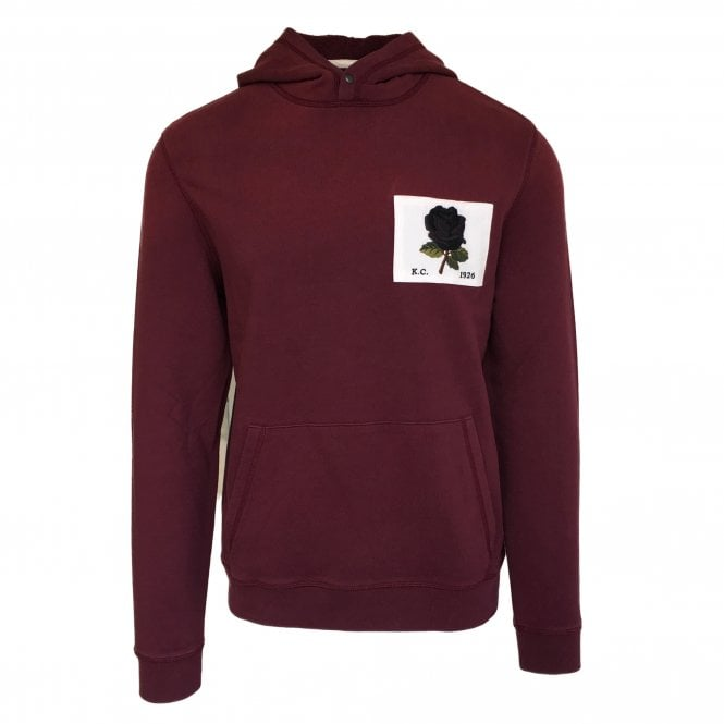 Kent & Curwen Burgundy Hooded Sweatshirt