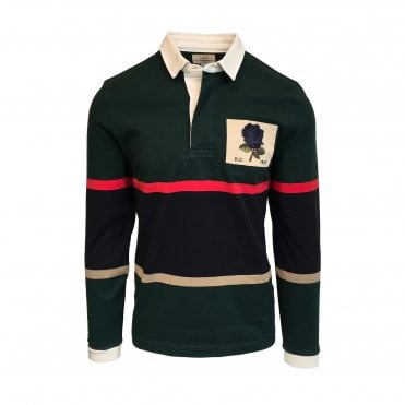 Kent & Curwen Green Striped Rugby Shirt