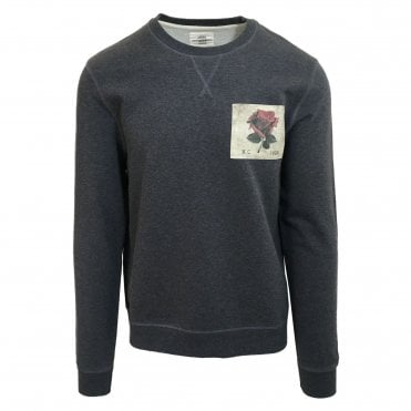Kent & Curwen Grey Photo Patch Sweatshirt