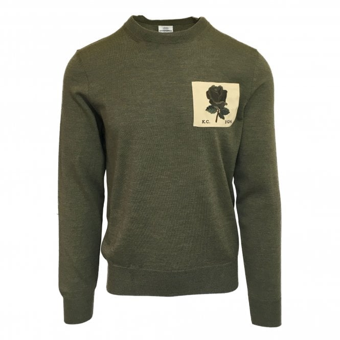 Kent & Curwen Khaki Green Knitted Jumper