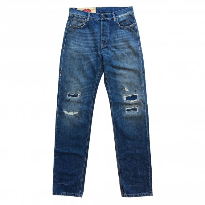 Kent & Curwen Light Wash Distressed Jeans
