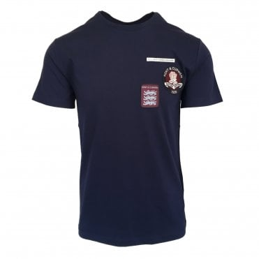 Kent & Curwen Navy Badge Cluster T-Shirt