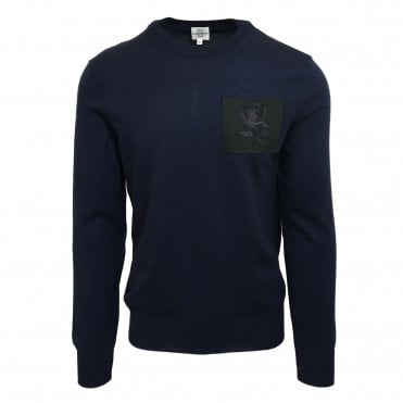 Kent & Curwen Navy Blue Knitted Jumper