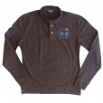La Martina Long Sleeve Polo Shirt in Brown. AMP016