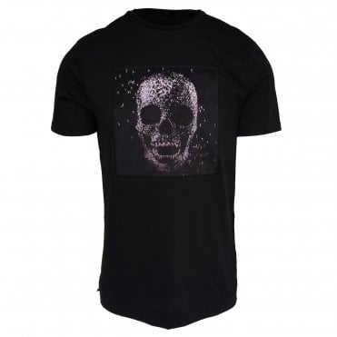 Limitato 'Diamante En Bruto' Print Black T-Shirt