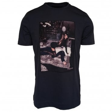 Limitato 'Film Time' Print Navy T-Shirt