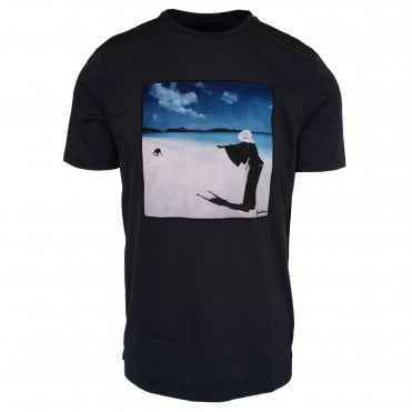Limitato 'Let Go' Print Navy T-Shirt