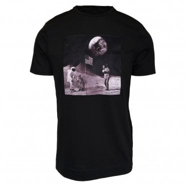 Limitato 'Man On The Moon' Print Black T-Shirt