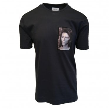 Limitato 'Ziggy Stardust D Bowie' Mid Blue T-Shirt