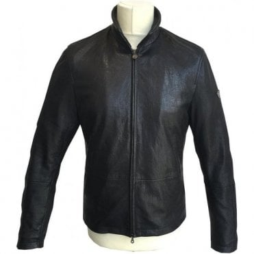 Matchless Black 'Craig' Limited Edition Leather Jacket 113159 CNAPPA 9005