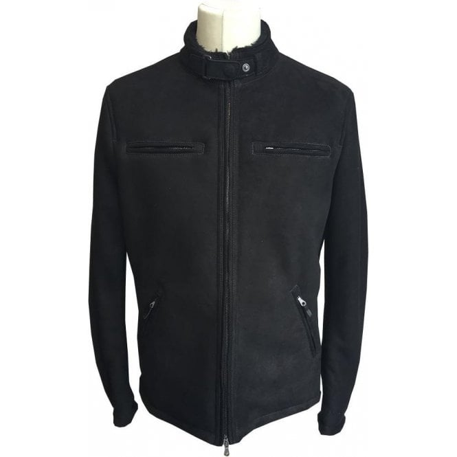 Matchless Black Shearling Lamb Leather Jacket 113037 90014L 9005