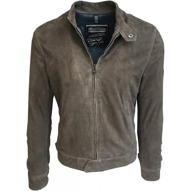 Matchless 'Scarlet' Military Green Mayfair Leather Blouson 6005 113191