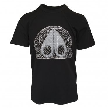 Moose Knuckles Black 'Biosphere' Crewneck T-Shirt
