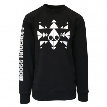Moose Knuckles Black Trippy Crewneck Sweatshirt