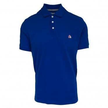 Moose Knuckles Blue Short Sleeve Polo