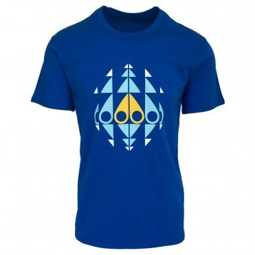 Moose Knuckles Blue Trippy Crewneck T-Shirt