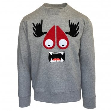 Moose Knuckles Grey Moose Munster Crewneck Sweatshirt