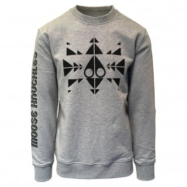 Moose Knuckles Grey Trippy Crewneck Sweatshirt