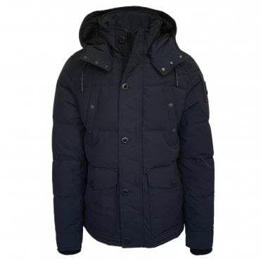 Moose Knuckles 'Shippagan' Blue Down Coat