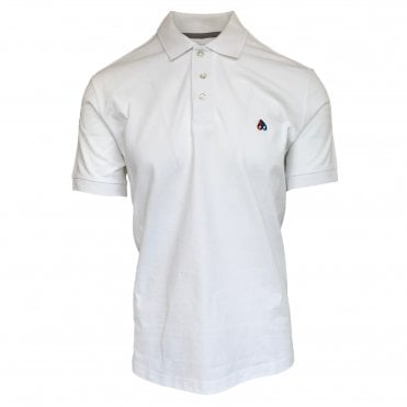 Moose Knuckles White Short Sleeve Polo