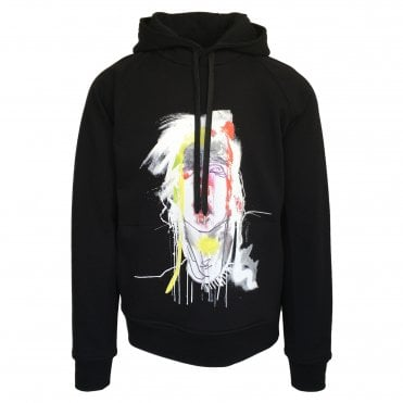 Neil Barrett Black 'Mouth - Julie Verhoeven' Hooded Sweatshirt