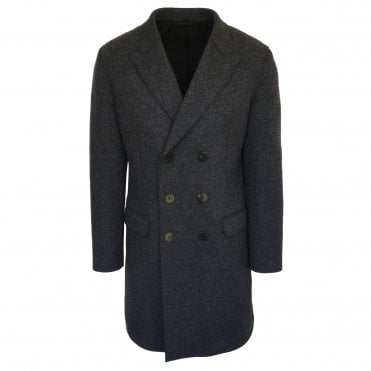Neil Barrett Charcoal Grey Double Breasted Overcoat