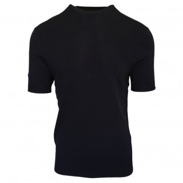 Neil Barrett Navy Knitted Crewneck T-Shirt