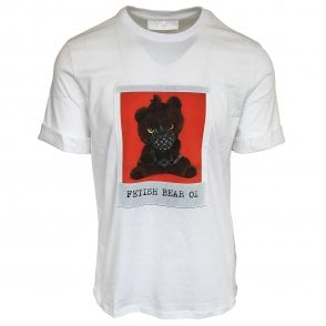 Neil Barrett White 'Fetish Bear 01' Crewneck T-Shirt