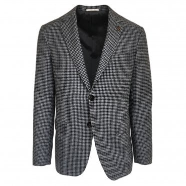 Pal Zileri Black and White Checked Jacket