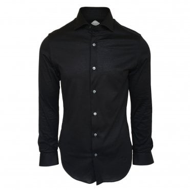 Pal Zileri Black Jersey Shirt