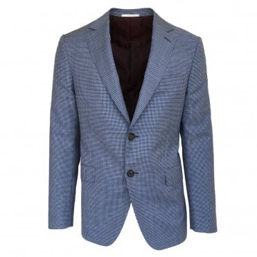 Pal Zileri Blue Dog Tooth Pattern Jacket