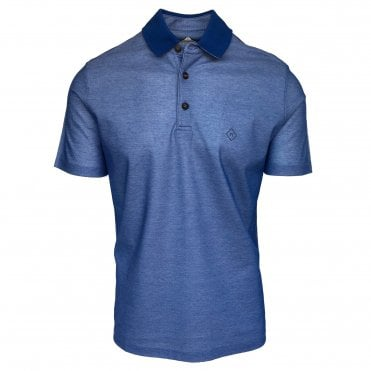 Pal Zileri Blue Pique Polo Shirt