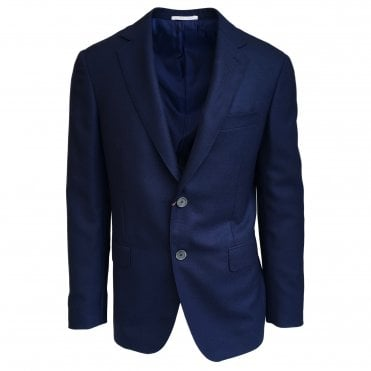 Pal Zileri Blue Textured Wool Jacket