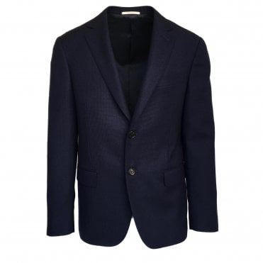 Pal Zileri Dark Blue Textured Wool Jacket
