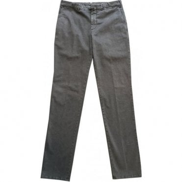 Pal Zileri Grey Brushed Cotton Chinos 31NA454-22160 31