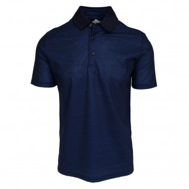 Pal Zileri Navy Pique Polo Shirt