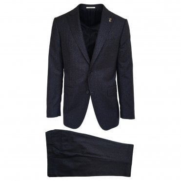 Pal Zileri Navy Suit with a Burgundy Stripe