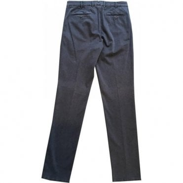 Pal Zileri Regular Fit Dark Blue Brushed Cotton Chinos 31NA454-22160 01