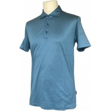 Pal Zileri Turquoise Mercerised Polo Shirt K3MMS910 94700
