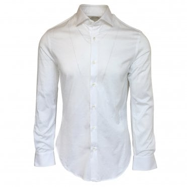 Pal Zileri White Jersey Shirt