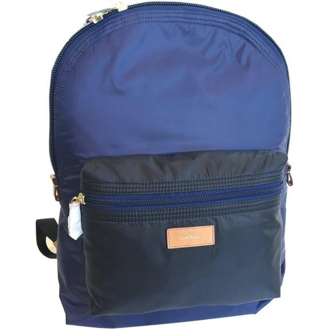 Paul Smith Accessories Black and Blue Backpack ASXC5091L865 1