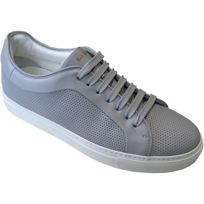 Paul Smith 'Basso' Grey Cow Leather Perforated Trainers SUXC/V236/LEA 70