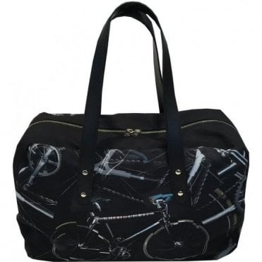 Paul Smith Black '24HR Bike' Print Holdall Bag AUXC/5267/L947 79