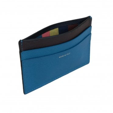 Paul Smith Black & Blue Leather Card Holder